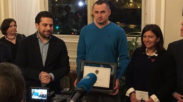 Олег Сенцов отримав звання почесного громадянина Парижа