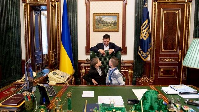 У день Святого Миколая Зеленський прийняв в ОП дітей, батьки яких загинули на Донбасі