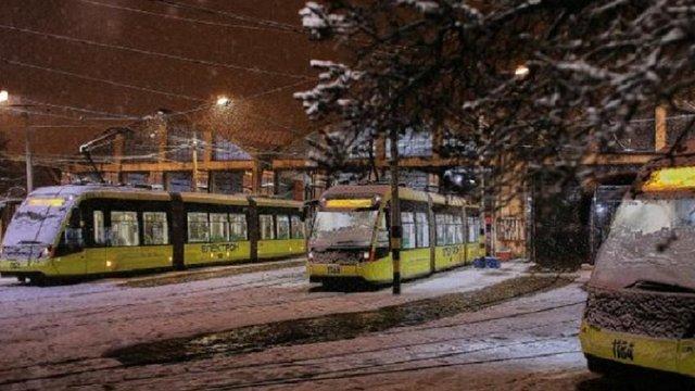 У новорічну ніч у Львові будуть курсувати трамваї