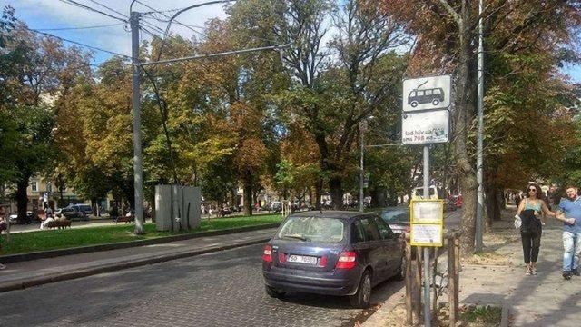 Кінцеву зупинку тролейбуса №33 у центрі Львова перенесуть
