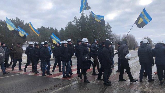 Шахтарі перекрили міжнародну трасу Львів — Рава-Руська