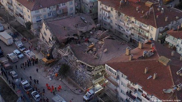 У Туреччині унаслідок потужного землетрусу загинули щонайменше 20 людей