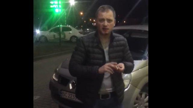 У Львові очевидці затримали нетверезого поліцейського за кермом