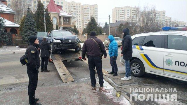 На Київщині на поліцейського напали під час оформлення протоколу за порушення