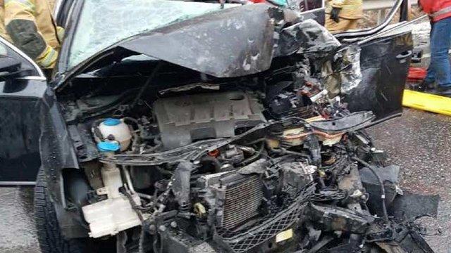 Внаслідок зіткнення із вантажівкою у Сколе травмувалися троє людей з легковика