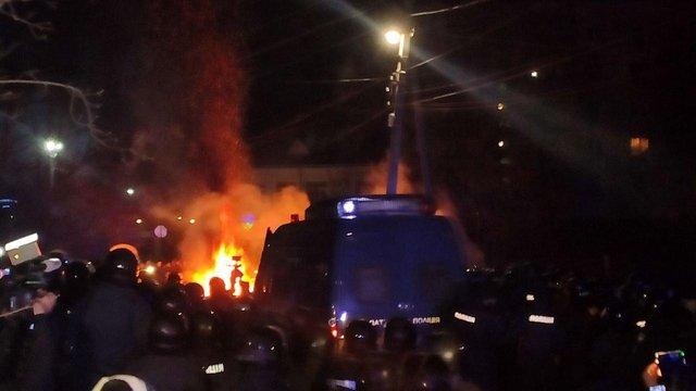ООН засудила протести та сутички у Нових Санжарах