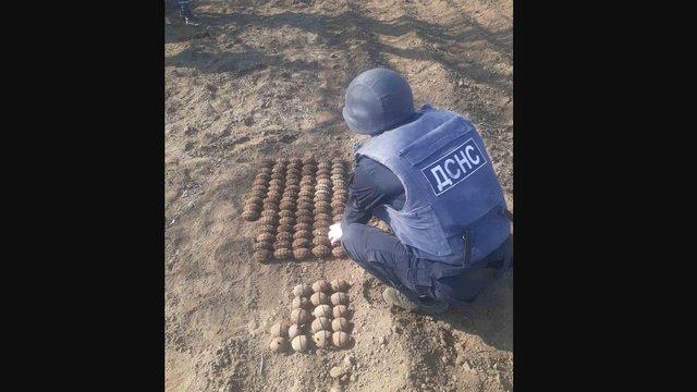 Мешканець Одещини знайшов на городі понад 100 гранат часів Другої світової війни