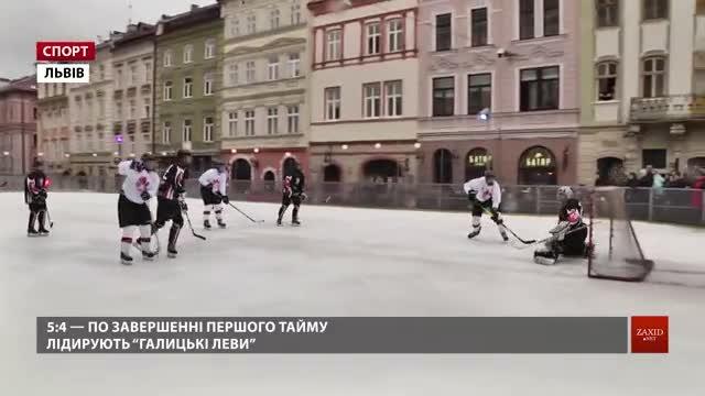 «Галицькі леви» із Новояворівська обіграли у хокей канадських військових