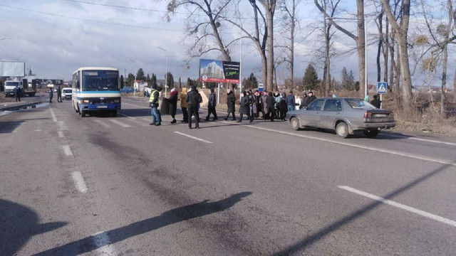 Протестувальники заблокували трасу у Малехові біля Львова