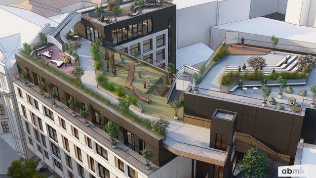 На даху нового готелю у центрі Львова облаштують громадський простір