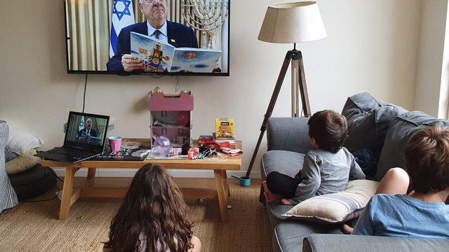 Президент Ізраїлю читає онлайн казки дітям під час карантину