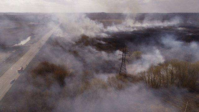 Вже шостий день не вдається погасити пожежі в Чорнобильській зоні