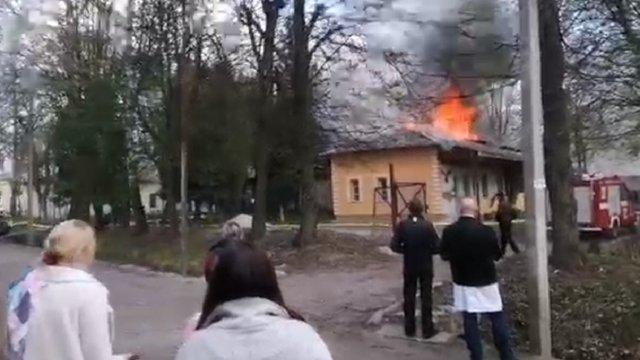 На території львівської психлікарні загорівся корпус реабілітації атовців
