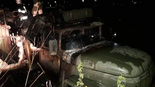 Вночі під час пожежі у військовому автомобілі у Судовій Вишні згорів ветеран АТО