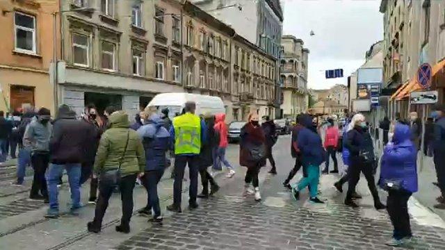Львівські торговці на короткий час перекрили кілька вулиць у центрі міста