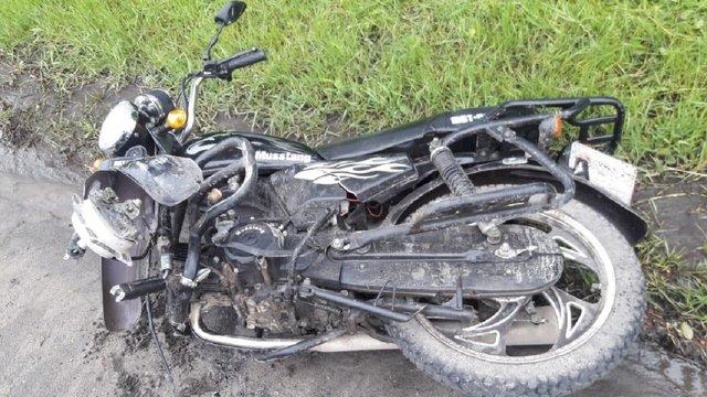 У Жовкві п'яна 49-річна мотоциклістка без водійських прав скоїла ДТП