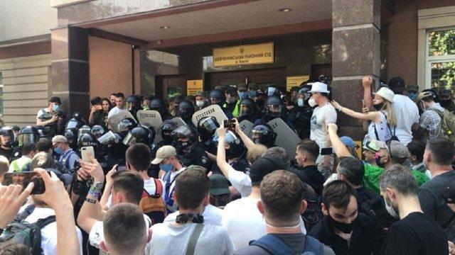 Під судом, який обирає запобіжний захід Сергієві Стерненку, стались сутички