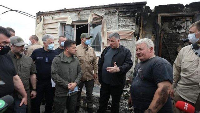 Сім'ї, що втратили житло внаслідок пожеж на Луганщині, отримають по 300 тис. грн