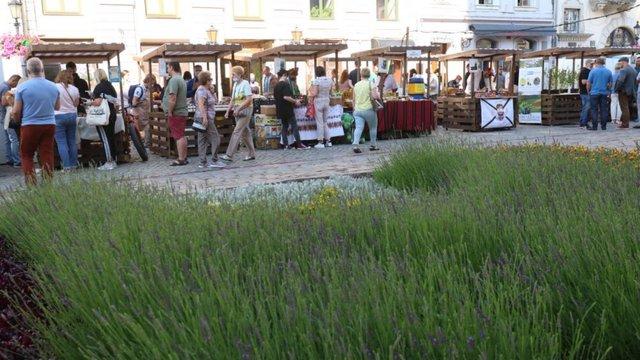 У центрі Львова вперше запрацював фермерський ярмарок