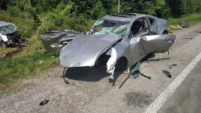Двоє водіїв загинули у масштабній аварії на трасі біля Стрия