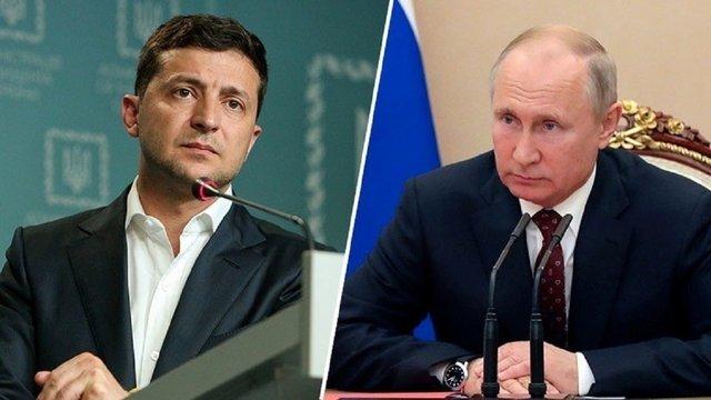 Зеленський обговорив з Путіним перемир'я на Донбасі