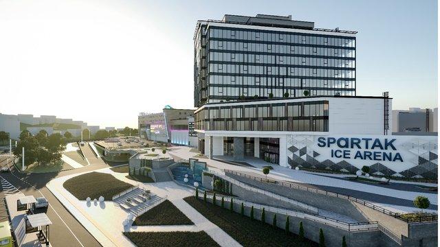 ТРЦ «Спартак» презентував фінальну візуалізацію майбутньої льодової арени