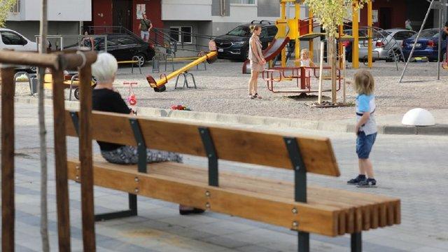 У мікрорайоні Під Голоском за кошти громадського бюджету облаштували новий простір