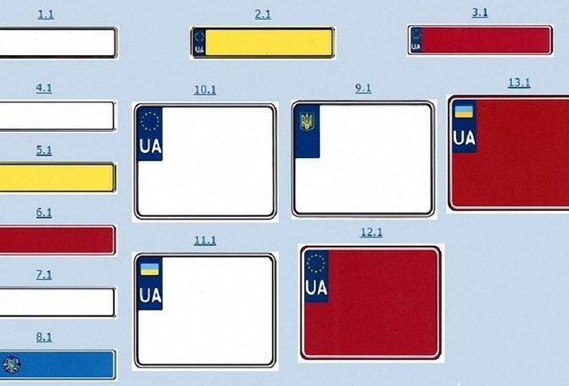 ДАІ запатентувала європейські автомобільні номерні знаки