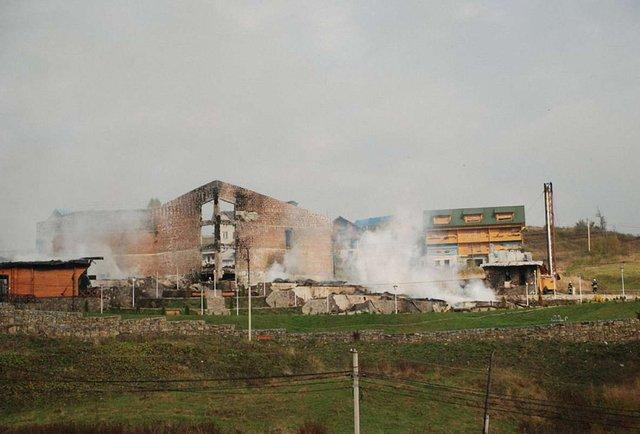 У Яремче згорів готельний комплекс «Київська Русь»