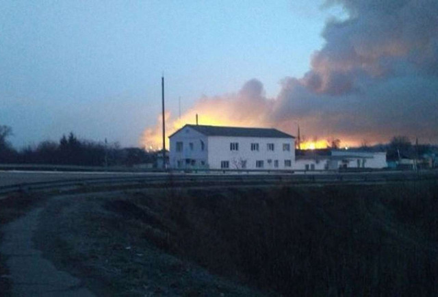 Пожежа на складах боєприпасів у Балаклії. Онлайн