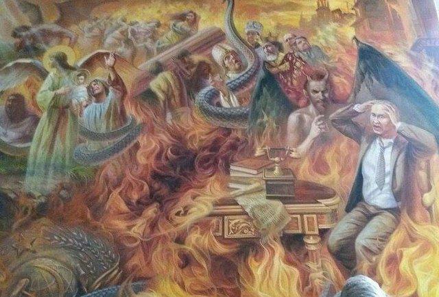 Путін в огні