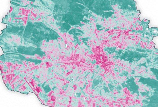 Чому у центрі спекотніше, ніж на Сихові. Теплова карта Львова