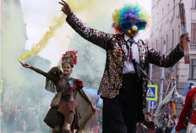 Центром Львова пройшов карнавал театрів з чотирьох країн світу