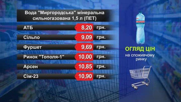 Вода «Миргородська». Огляд цін у львівських супермаркетах за 26 вересня