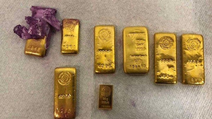 Львівські митники виявили в посилці вісім золотих злитків у банці з-під фарби