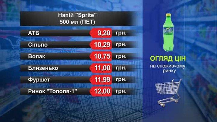 Sprite. Огляд цін у львівських супермаркетах за 18 жовтня