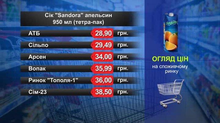 Сік Sandora. Огляд цін у львівських супермаркетах за 8 листопада