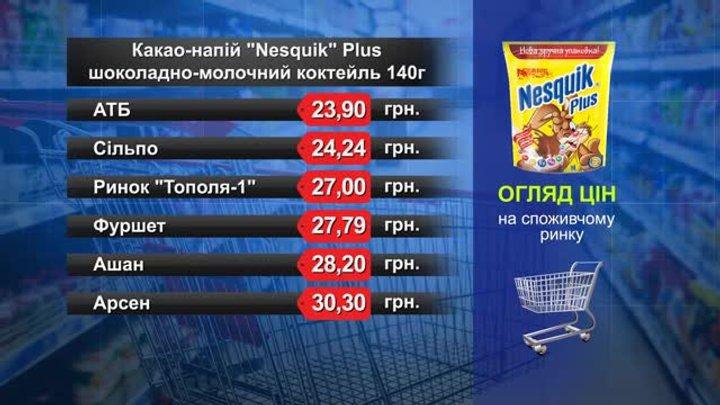 Какао-напій Nesquik. Огляд цін у львівських супермаркетах за 14 листопада