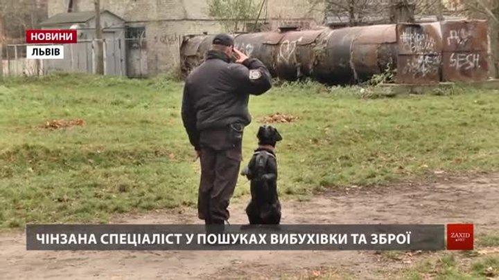 Вихованцям львівського інтернату показали роботу поліцейських собак