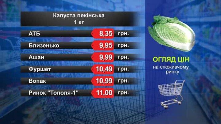 Капуста пекінська.  Огляд цін у львівських супермаркетах за 16 листопада