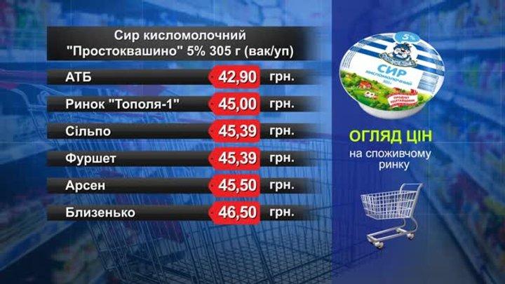 Сир кисломолочний «Простоквашино». Огляд цін у львівських супермаркетах за 21 березня