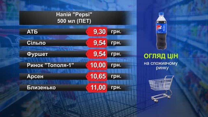 Pepsi. Огляд цін у львівських супермаркетах за 25 березня
