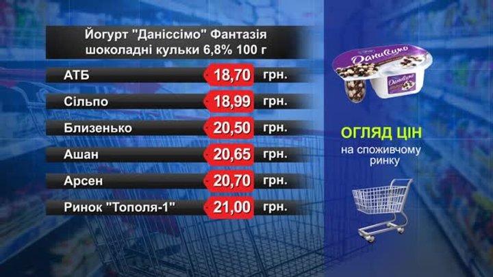 Йогурт «Даніссімо» Фантазія. Огляд цін у львівських супермаркетах за 17 квітня