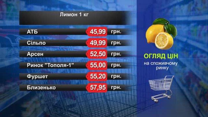 Лимон. Огляд цін у львівських супермаркетах за 18 червня