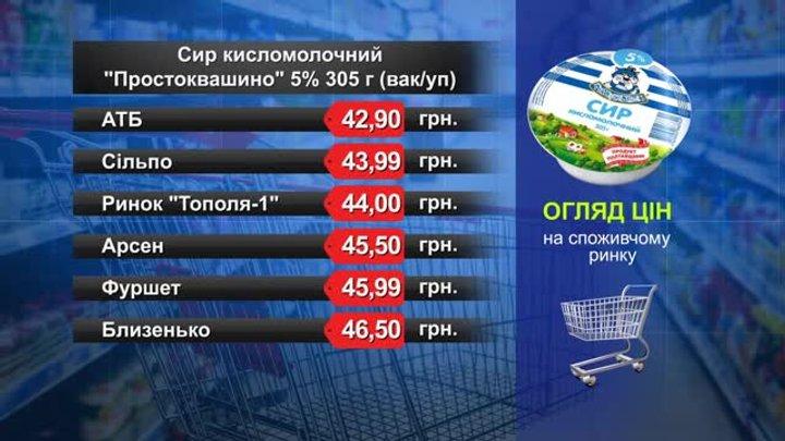 Сир «Простоквашино». Огляд цін у львівських супермаркетах за 14 серпня