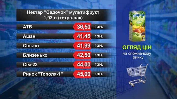 Нектар «Садочок» мультифрукт. Огляд цін у львівських супермаркетах за 11 грудня