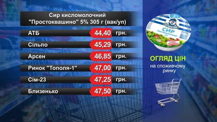 Сир кисломолочний «Простоквашино». Огляд цін у львівських супермаркетах за 12 грудня