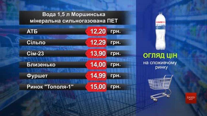Вода «Моршинська» мінеральна сильногазована. Огляд цін у львівських супермаркетах за 15 січня