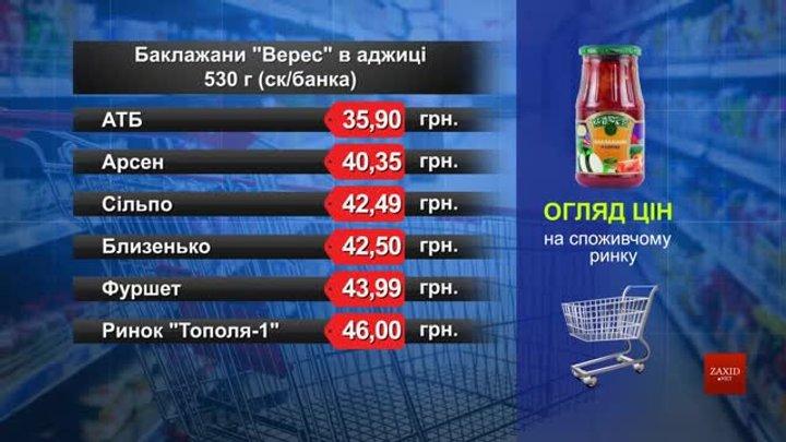 Баклажани «Верес» в аджиці. Огляд цін у львівських супермаркетах за 20 лютого