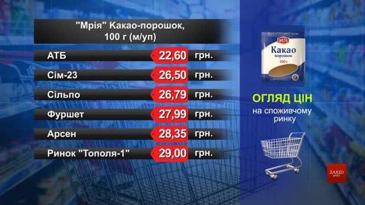 Какао-порошок «Мрія». Огляд цін у львівських супермаркетах за 25 лютого